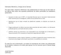Comunicado de CAPATEC y de CSIRT