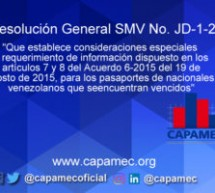 Resolución General SMV No. JD-1-20