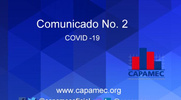 Comunicado CAPAMEC COVID-19 No. 2