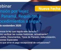 Webinar Pensión por Vejez en Panamá, Requisitos y Procedimientos a seguir