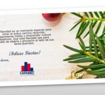 ¡Felices Fiestas! les desea, CAPAMEC