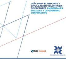 Lanzamiento de la Guía para el Reporte y Divulgación Voluntaria de Factores ASG
