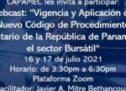 """Webcast: """"Vigencia y Aplicación del Nuevo Código de Procedimiento Tributario de la República de Panamá en el sector Bursátil"""""""